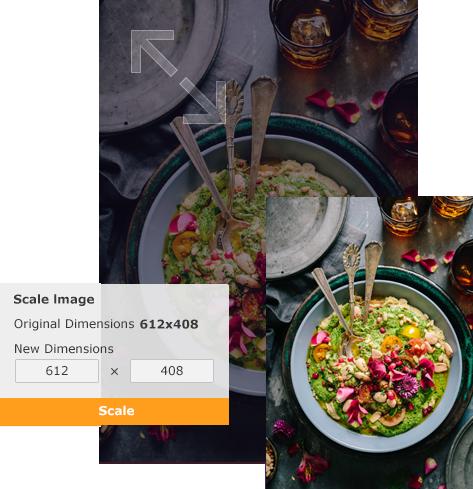 Resize food image with Vance AI Image Resizer